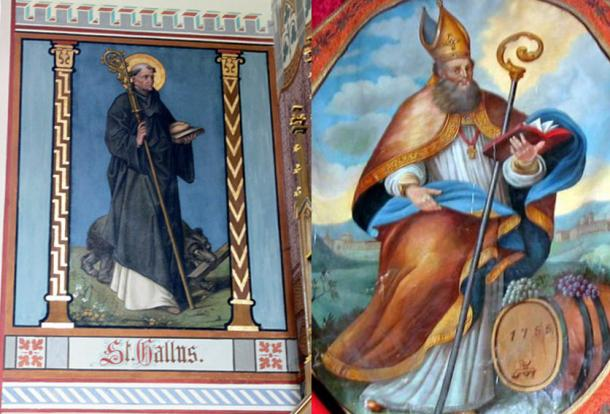 St. Gallus (Public Domain) and St. Othmar (Public Domain) – two key figures for the Abbey of St. Gall.