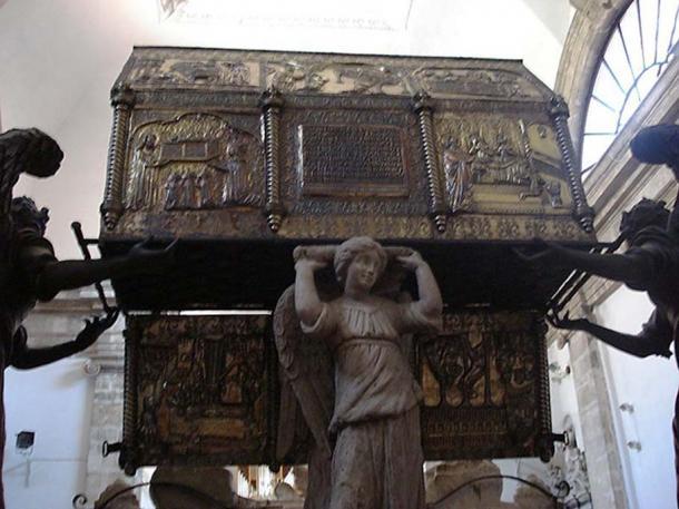 St. Simeon's casket in the Church of St. Simeon the Elder, Zadar, Croatia.