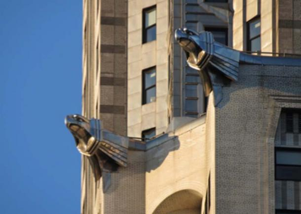 Stainless steel gargoyles on the Chrysler Building in New York. (Raw2daBon3 / Public Domain)