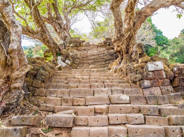 Stairway to Vat Phou, Laos