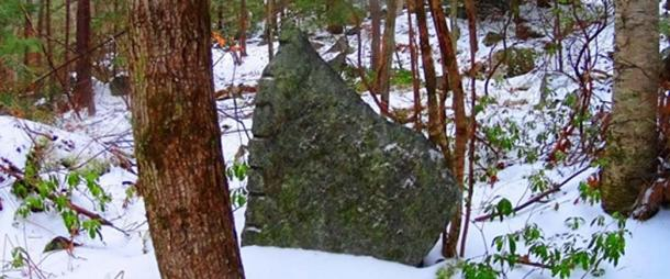 Standing stone of a unique style specific to New England