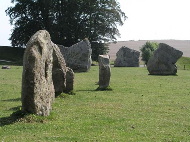 Standing stones at Avebury, the largest stone circle in the British Isles.