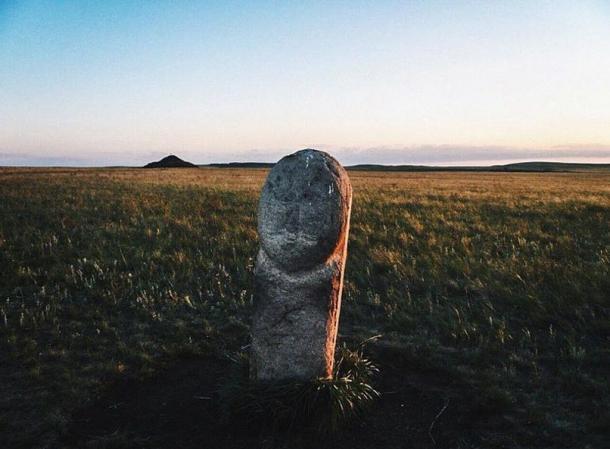 Statue, Arkaim, Russia