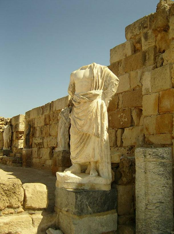 Statue at the ancient city of Salamis