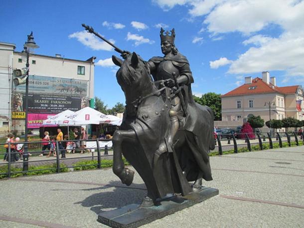 Statue of Casimir IV Jagiellon in Malbork.