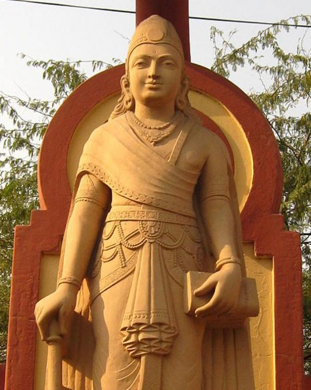 Statue of Chandragupta Maurya, the first ruler of the Mauryan Empire and Ashoka's grandfather.
