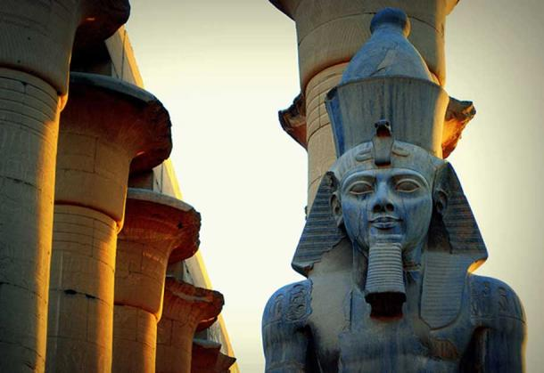 Statue of Ramses II at Luxor Temple, Egypt.