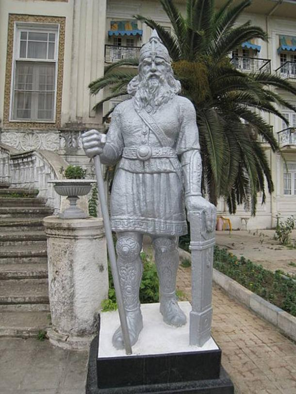 Statue of Rostam in Ramsar, Iran.