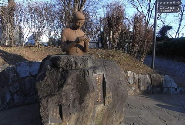 Statue of Tadahiro Aizawa. Photo by woles