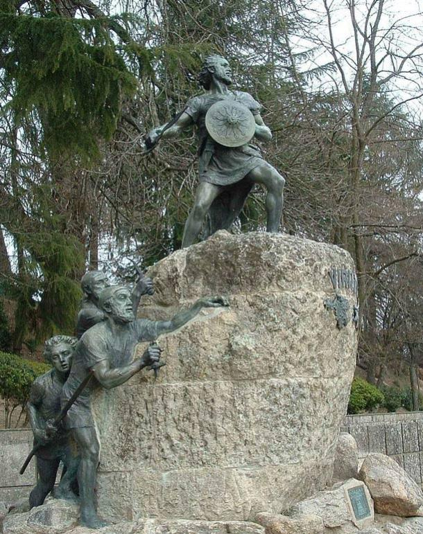 Statue of Viriatus (Viriato), the Lusitanian leader during the Lusitanian War