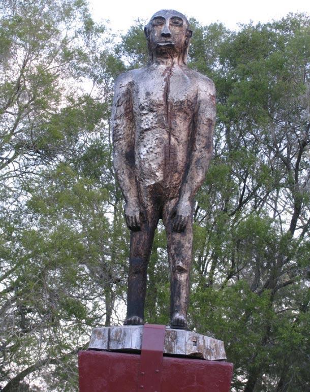 Statue of a Yowie, Kilcoy, Queensland, Australia