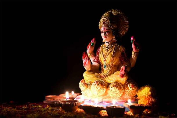 A statue of the goddess Lakshmi during India's famous Diwali celebration. Source: Dipak Shelare / Adobe Stock