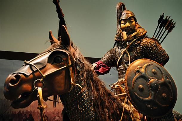 Statue of Genghis Khan, the emperor that ordered many genocides, on horseback in battle. (William Cho / CC BY-SA 2.0)