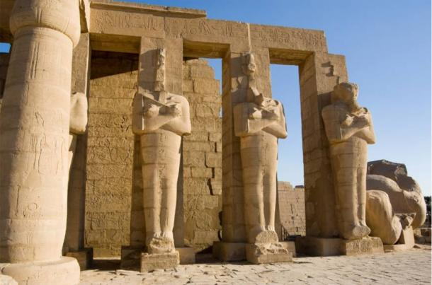 Statues at the Ramesseum, Luxor