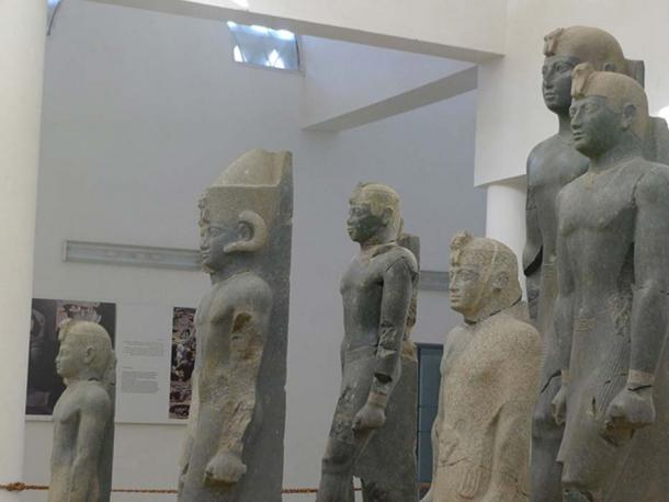 Statues of pharaohs of the Twenty-fifth Dynasty of Egypt (Black Pharaohs) discovered near Kerma.