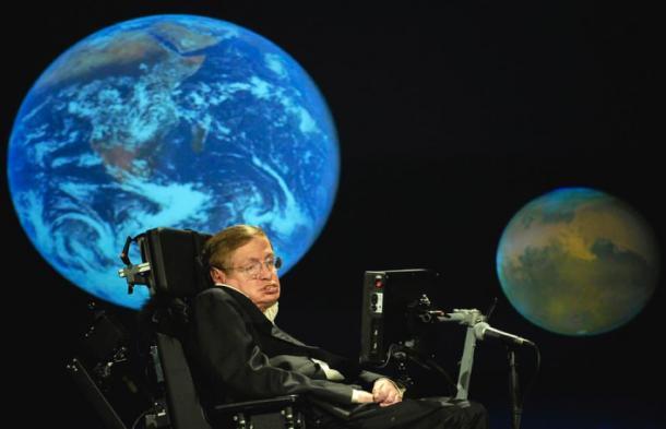 Stephen Hawking NASA 50th. (NASA HQ Photo)