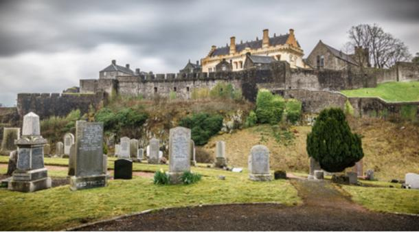 Stirling Castle and a graveyard.
