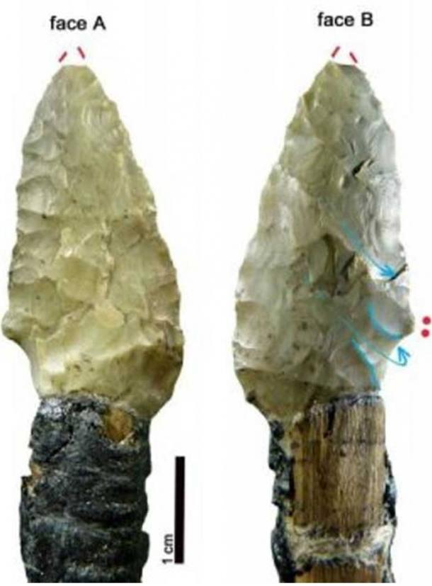Stone arrow heads found with Ötzi's body