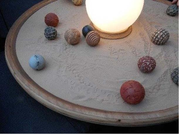 Figure 5. Stone balls used by artists (Photo credit: Laird Scranton)