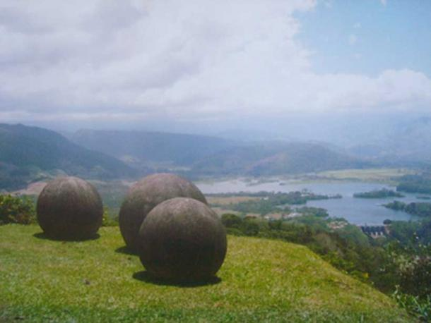 Stone spheres of Costa Rica. Reventazon River view