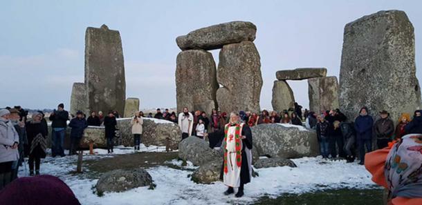 Stonehenge Spring Equinox Celebrations 2018. (CC BY 2.0)
