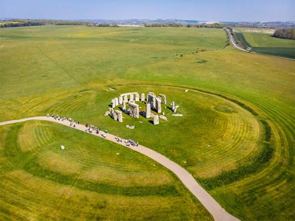 Despite what some people say, the Stonehenge engineering was not just like Lego. Pictured: Aerial shot of Stonehenge during the summer. (Alexey Fedorenko / Adobe stock)