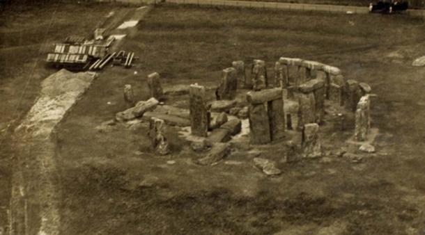 Stonehenge, Salisbury Plain UK. Circa 1920.