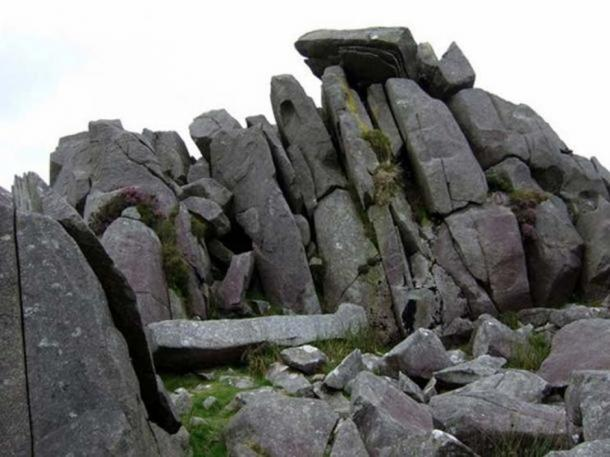 Stones at Carn Menyn, Wales, an example of bluestone.