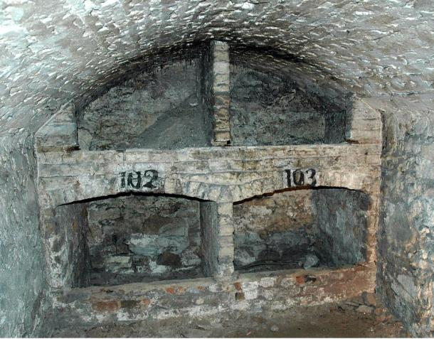 Storage inside the vaults.