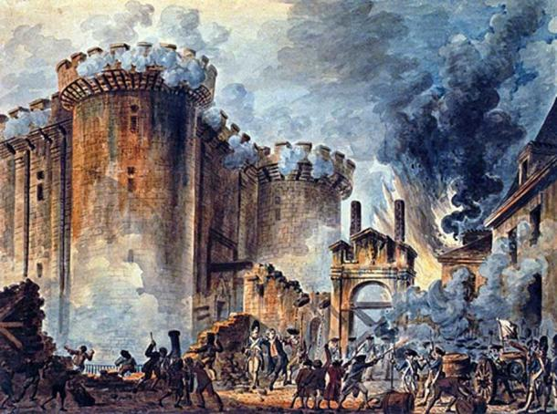 Storming the Bastille, 1789 (Public Domain)