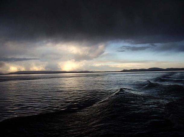 Stormy Lake Titicaca.
