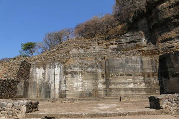 "Known as ""Structure IV"", this immense rock-cut trench (measuring 20 by 15 meters, 66 by 50 feet) is an extraordinary example of monolithic architecture. Over 1,000 cubic meters of rock were removed in order to carve this chamber out of the cliff face. It is almost impossible to believe that a work of such extent and precision could be completed without the aid of metal tools. (Photos © Marco Vigato)"