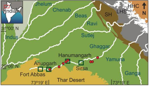 Study area and subsurface stratigraphy along the Ghaggar-Hakra. (Scientific Reports)