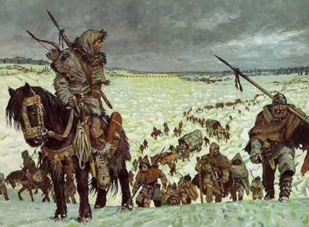 Suebi and other Germanic tribes in the winter. (Arre caballo)