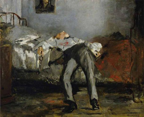 Suicide was also connected with bad luck, superstition, and older folkloric views across medieval Europe until the 20th century, and even today. (Édouard Manet / Public domain)