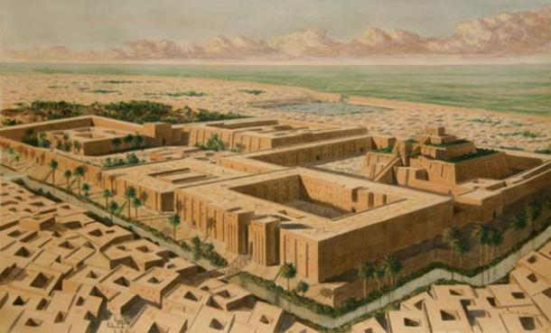 Artist's reconstruction of the Sumerian city of Ur.