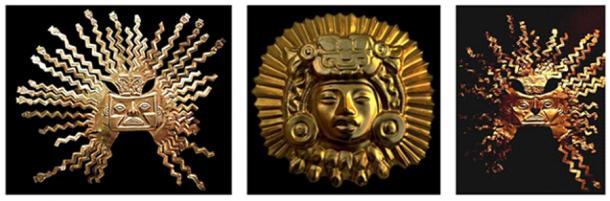 Sun God Inti masks (Via Author)