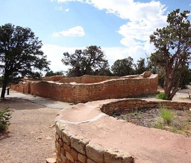 The Sun Temple at Mesa Verde National Park, Colorado, USA.