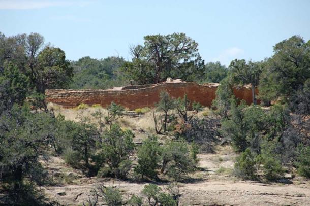 A view of the Sun Temple from Cliff Palace loop.