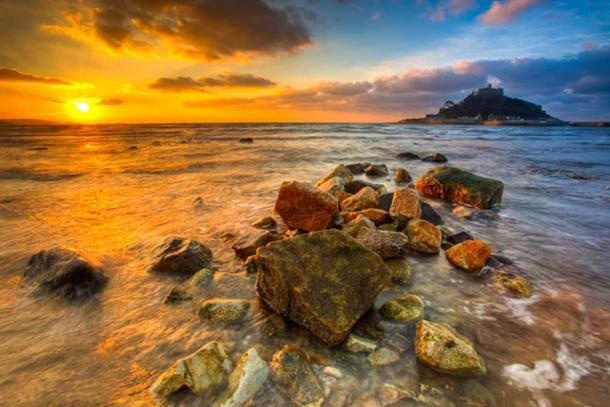 Sunrise at St Michael's Mount, Cornwall, England