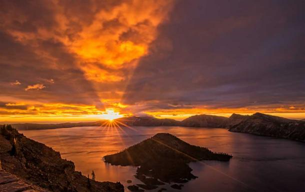 """""""Sunrise on Crater Lake, Oregon 2014."""""""