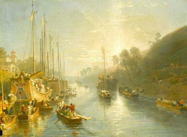 Sunrise on the Grand Canal of China (1816-1817) by William Havell. (Public Domain)