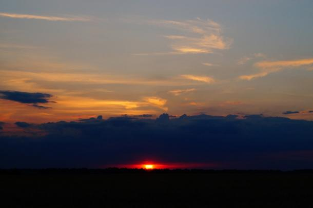 Sunset at Bezvodovka on the Summer solstice, June 22. Credit: Oleksandr Klykavka
