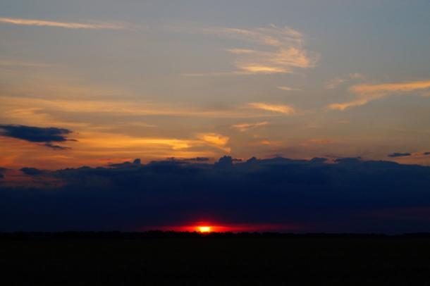 Sunset at Bezvodovka on the Summer solstice, June 22. Credit: Oleksandr Klykavka