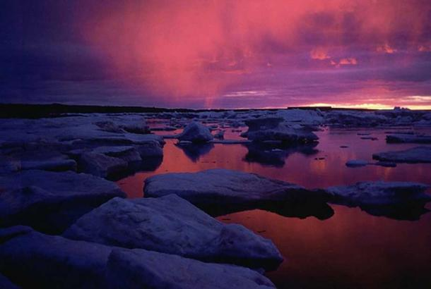 Sunset at Hudson Bay, Canada. (Public Domain)
