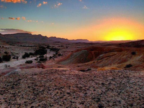 Sunset in the Negev Desert near Yeruham, Israel