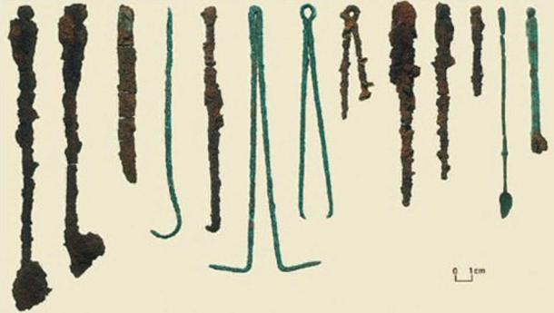 Surgical Tools found with the 'Druid of Colchester.