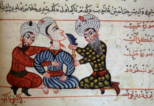 Surgical operations in the middle Ages, the work of Arab doctors.