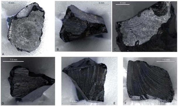 Sutton Hoo Bitumen samples. Burger et al (2016)