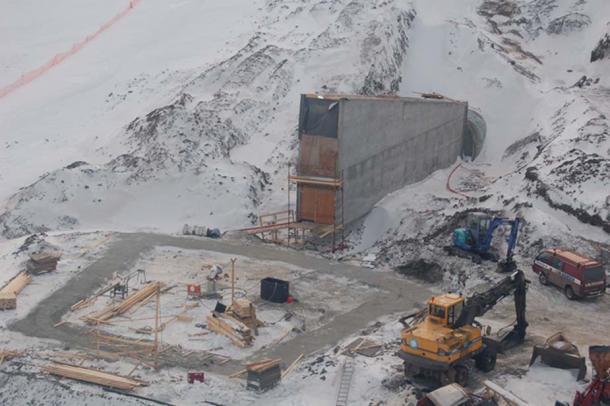 Svalbard Global Seed Vault Under Construction | by Global Crop Diversity Trust.
